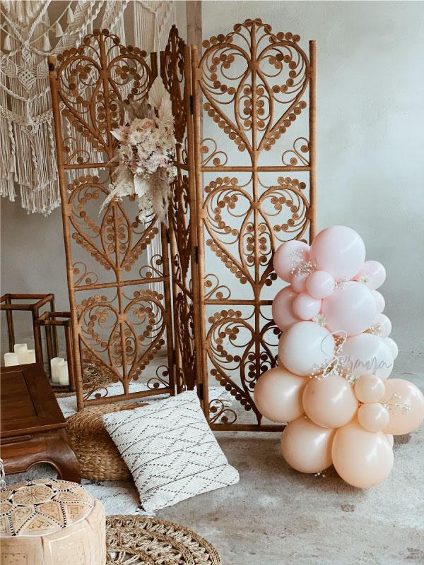 Location décoration mariage bohème
